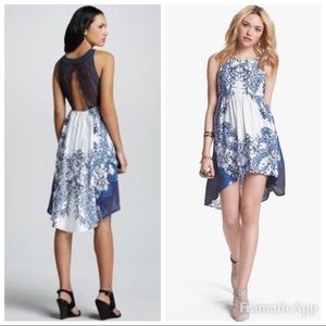 FREE PEOPLE Blue White Russian Night Out Dress
